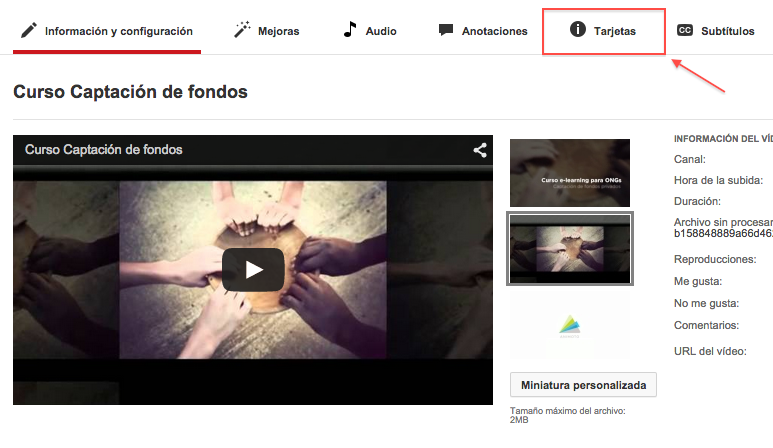 youtube card paso 1